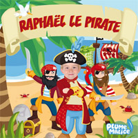 Livre enfant personnalis chez les pirates