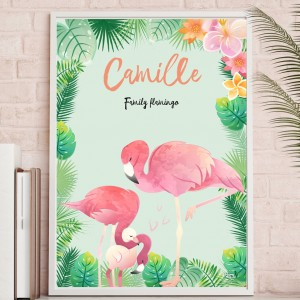 Family flamingo