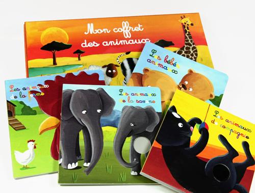 livre pour bébé Mon coffret des animaux